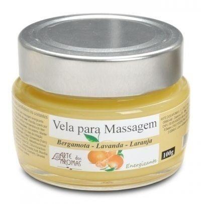 Vela Hidratante para Massagem Revitalizante com Laranja, Lavandim e Bergamota 100g - Arte dos Aromas