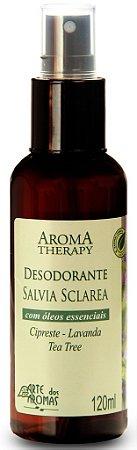 Desodorante Natural Spray de Sálvia com Lavanda, Tea Tree e Cipreste 120ml - Arte dos Aromas