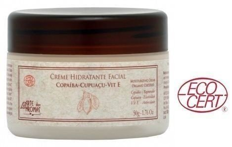 Creme Hidratante Facial Orgânico Copaíba com Cupuaçu, Tea Tree, Babosa e Vit E 50g - Arte dos Aromas