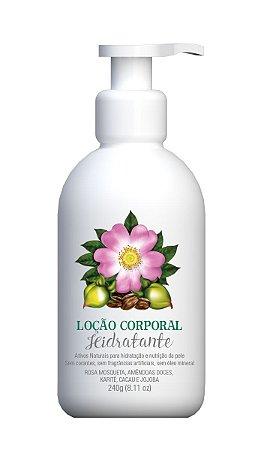 Loção Corporal Hidratante de Rosa Mosqueta, Cacau e Jojoba 240ml - Multi Vegetal