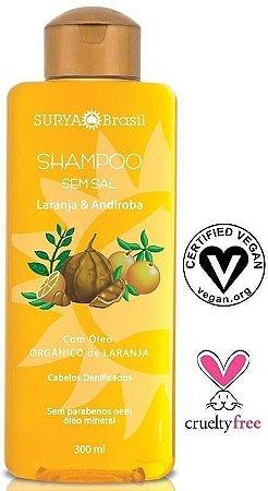 Shampoo Laranja e Andiroba com Óleo Orgânico de Laranja - Cabelos Danificados 300ml - Surya Brasil