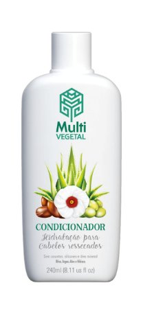 Condicionador de Oliva com Argan, Aloe e Hibisco - Cabelos Secos e Cacheados 240ml - Multi Vegetal