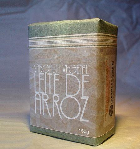 Sabonete Vegetal  de Leite  de Arroz   150g  - Origens do Banho