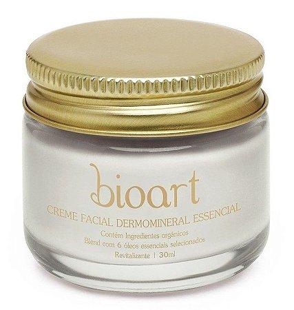 Creme Facial Bioessencial (Dermo Essencial - Bionutrientes)  com Argila e Óleos Essenciais 30ml - Bioart