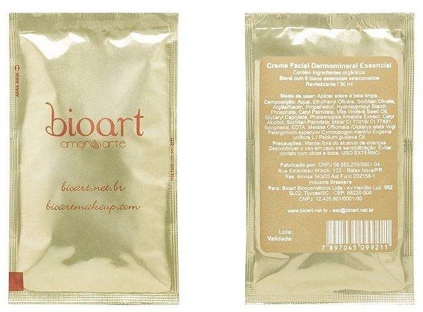 Creme Facial Bioessencial (Dermo Essencial - Bionutrientes)  com Argila e Óleos Essenciais - Sachê 30ml - Bioart