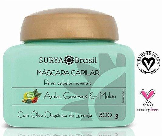 Máscara Capilar Amla, Guaraná e Melão com Óleo Orgânico de Laranja - Cabelos Normais 300g - Surya