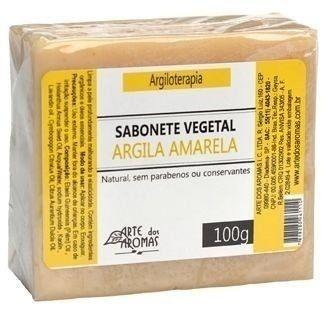 Sabonete Argila Amarela com Lavandim, Laranja e Capim Limão 100g - Arte dos Aromas