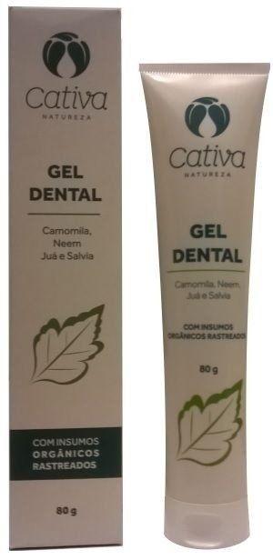 Gel Dental com Juá, Camomila e Sálvia 80g - Cativa Natureza