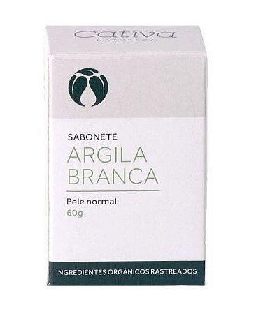Sabonete Argila Branca com Lavanda e Capim Limão - Pele Normal 60g - Cativa Natureza