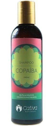 Shampoo de Copaíba com Babosa e Lavanda - Cabelos Oleosos e Anti-Caspa 240ml - Cativa Natureza