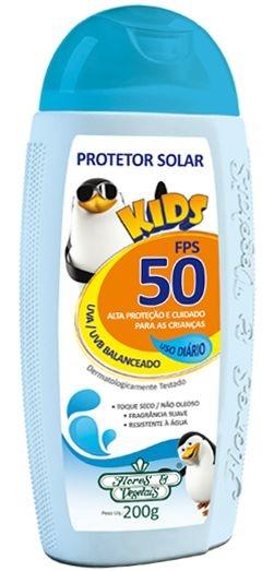 Protetor Solar Kids 50FPS 200g - Flores e Vegetais