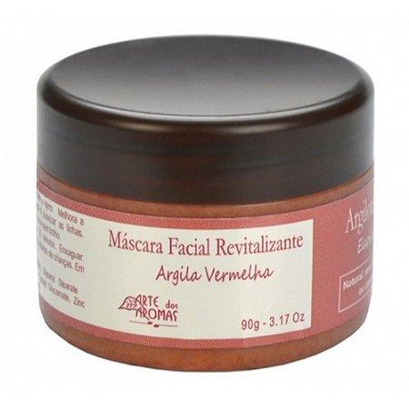 Máscara Facial Revitalizante com Argila Vermelha 90g - Arte dos Aromas