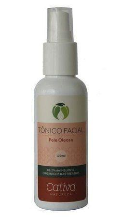 Tonico Facial pele oleosa 120ml - Cativa Natureza