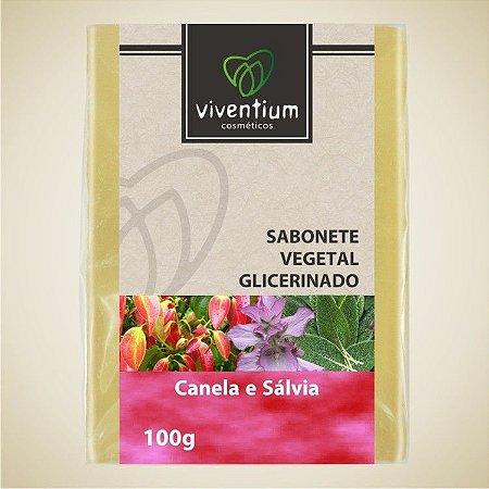 Sabonete Vegetal Glicerinado Canela e Sálvia 100g - Viventium