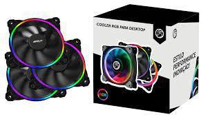 Kit 3 Coolers Led Rgb Slim Controladora De Cores Bpc-kslim12