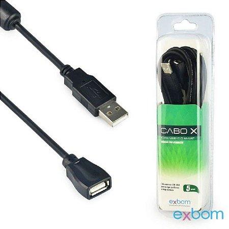 CABO EXTENSOR USB 5 METROS COM FILTRO