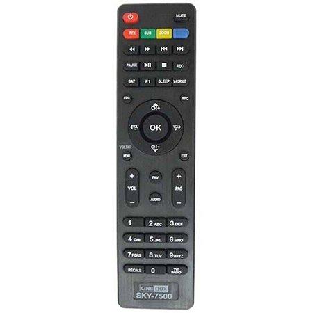 CONTROLE REMOTO COMPATIVEL TV CINE BOX / GIGA BOX
