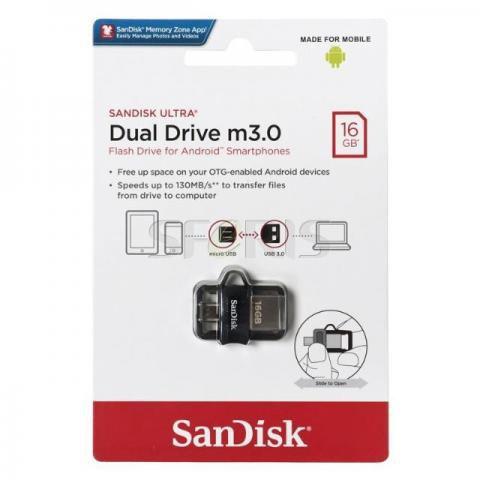 Pendrive 16gb Sandisk Ultra Dual Drive Usb 3.0 Celular E Pc