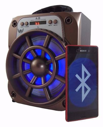 CAIXA DE SOM USB BLUETOOTH FM RECARREGAVEL LTOMEX A-37 8W