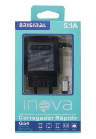 Carregador Turbo Inova In-g54 5.1a - 2 Usb