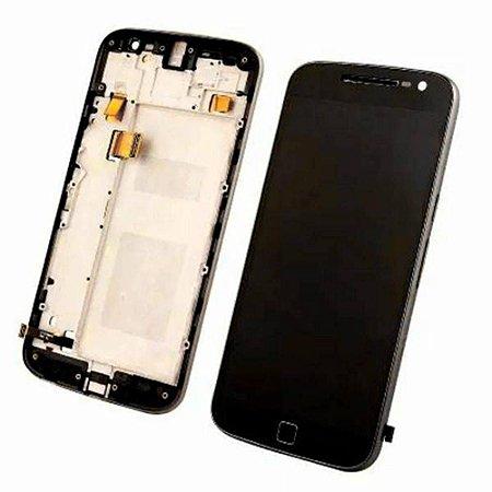 Frontal Motorola Moto G4 Plus com Aro Preto