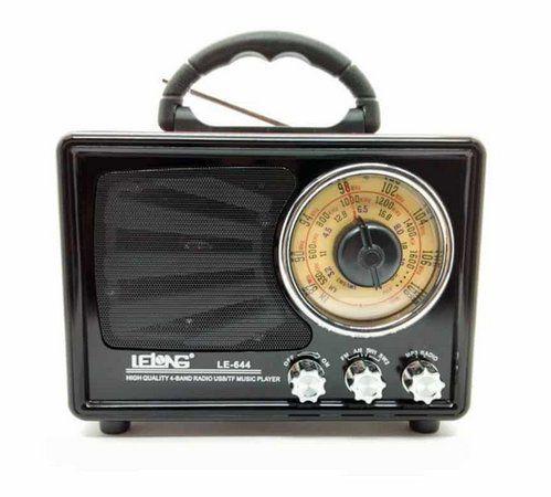 Radio Portátil Retro Le 644 Usb Cartão Sd Pen Drive Am/fm/sw bluetooth