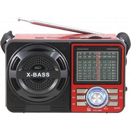 Rádio AM/FM Portátil 1088 Sw Usb Sd Tf Aux Mp3 recerregavel