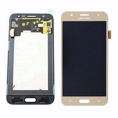 Frontal Samsung J5/J500M Dourado AAA Com Ajuste de Brilho