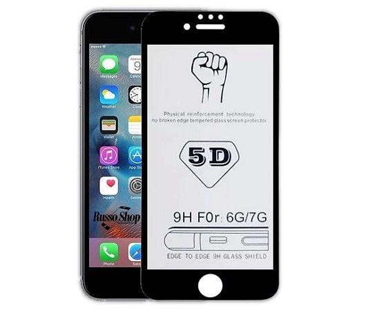 PELÍCULA DE VIDRO 5D IPHONE 6G BORDA CURVADA NANOSHIELD