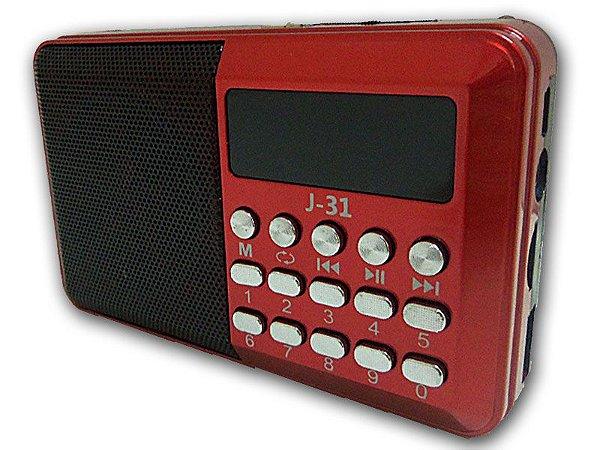 Radio Am/Fm de mão recarregável com entrada usb/card