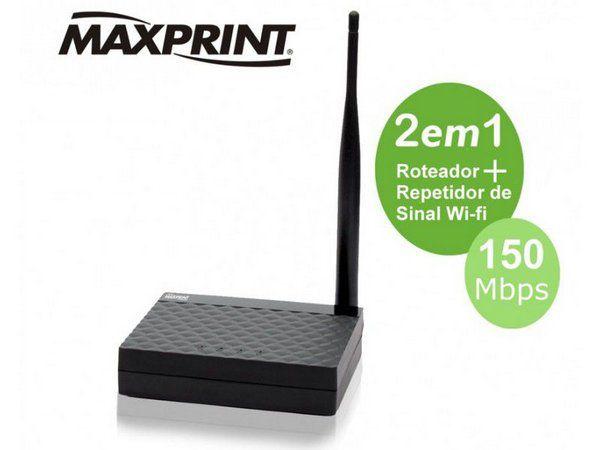 Roteador E Repetidor 150mbps Maxprint 1 Antena 150af