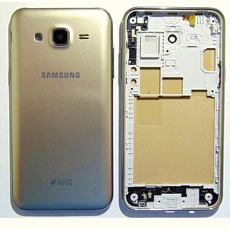 Carcaça Samsung J500 Dourada