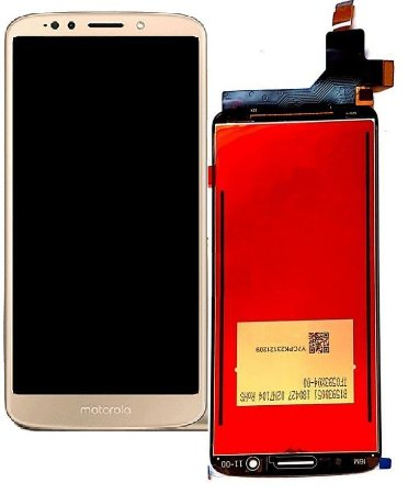 Frontal Motorola Moto G6 Plus Dourado