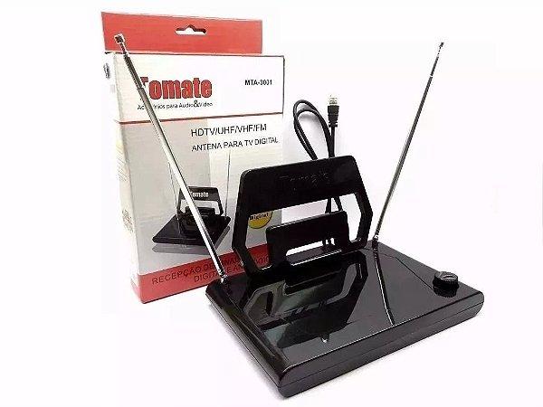 ANTENA DIGITAL E ANALOGICA HDTV/UHF/VHF/FM INTERNA TOMATE 3001