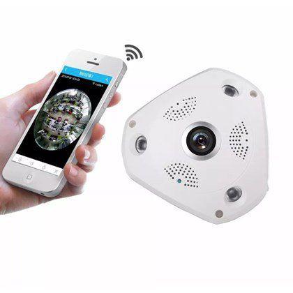 Câmera De Teto 3d Segurança 360° Vr Cam App Hd Full