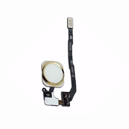 Flex Botão Home iphone 5S Completo Branco