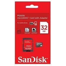 Cartão de memória 32 Giga sandisk