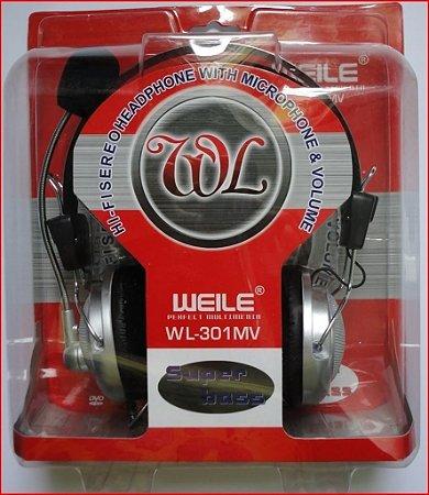 Fone de ouvido c/ mic. Para computador HL-301MV
