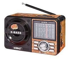 Radio Am/Fm usb/cartão recarregavel lelong LE-616