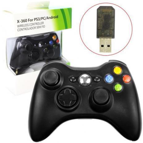 Controle Sem Fio 4 in 1 xbox 360/ps3/pc/tv box