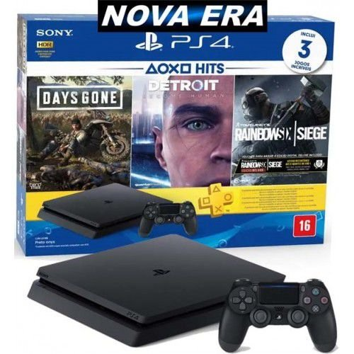 Console Ps4 Playstation 4 Slim 1tb 3 Jogos