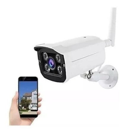 Camera Ip Externa A Prova D Agua Wifi Visao Noturna Hd