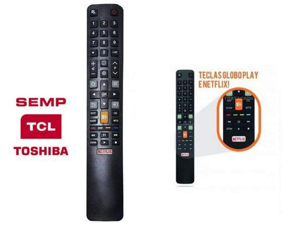 CONTROLE REMOTE PARA TV SMART TOSHIBA TCL