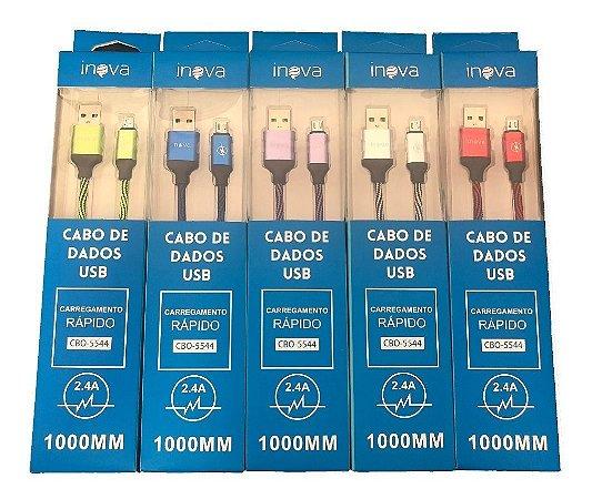 Cabo de Dados Usb/v8 Inova 1 metro 2.4A CBO-5753
