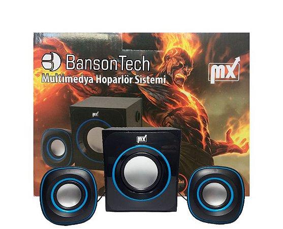 Caixa de som Banson Tech 2.1 usb