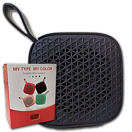 Caixa De Som Bluetooth Portatil Emborrachada