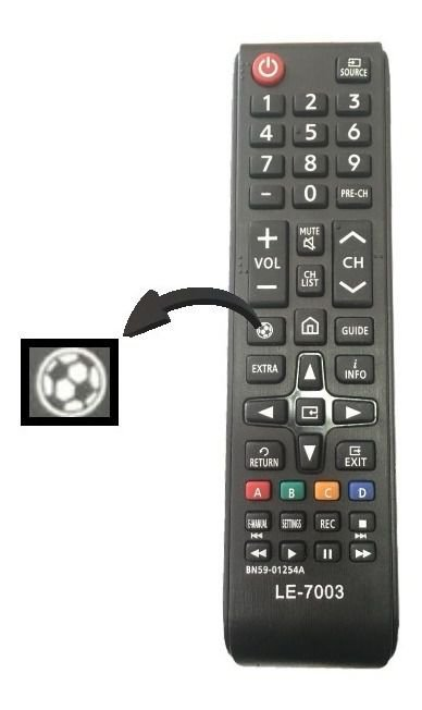 Controle Remoto Samsung 4K home/futebol
