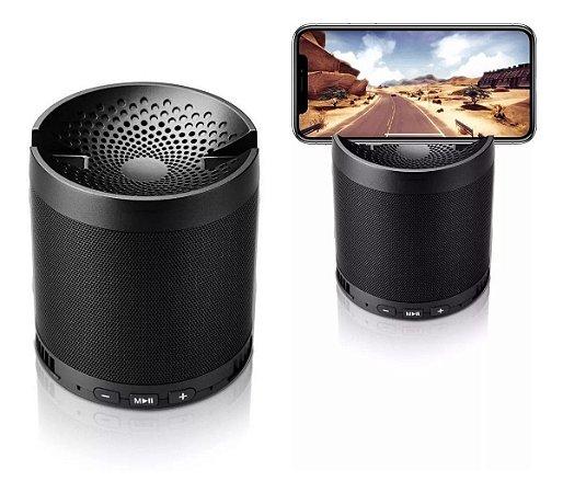 Caixa De Som Bluetooth Q5 Usb Mp3 Aux Com Suporte Celular
