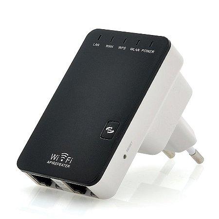 Mini Repetidor e Roteador De Sinal 300mbps Wifi