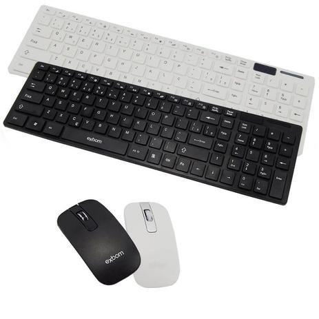 Teclado e Mouse sem Fio Exbom BK-S1000
